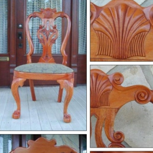 Chaise - Chippendale - Reproduction chaise Garvan